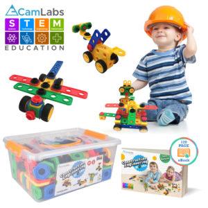 STEM Learning Toy Construction Blocks Set for Boys & Girls Ages 3-7 - B07J581YV9-1